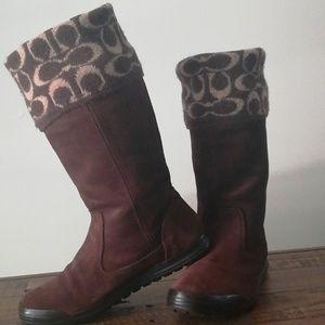Coach Tatum suede brown boots